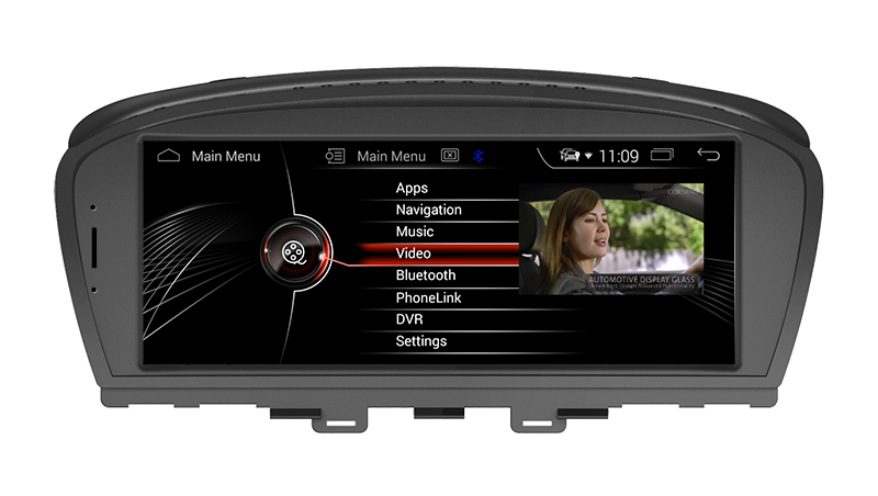 "8.8""Anti-Glare auto video bmw 6er E63 E64 M6 android 8.0 DVD GPS 3G wifi phone connections"