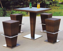 Bar Furniture PE Rattan Bar Table and Stools