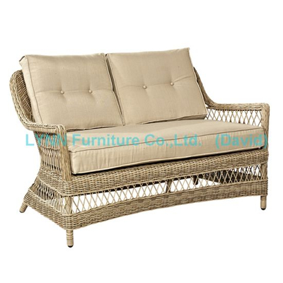 Garden Furniture Wicker Love Seat Circle Rattan Sofa