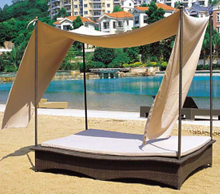 Outdoor Wicker/Rattan Square Daybed (LN-100)