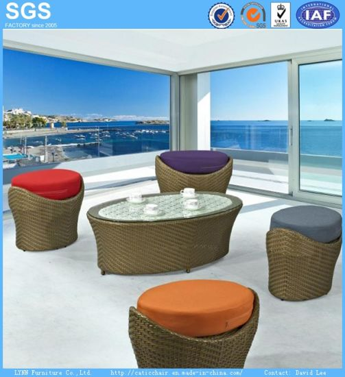 Resort Hotel Furniture Outdoor Balcony PE Rattan Furniture