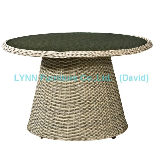 Garden Furniture Dining Table Outdoor Round Rattan Table