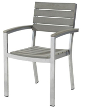 Outdoor Plastic Wooden Chair with Aluminum Frame (LN-1082)