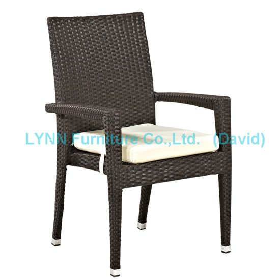Garden Furniture Rattan Armchair Stackable Chair