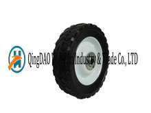 6in Solid Rubber Lawn Mover Wheel with Diamond Tread Pattern