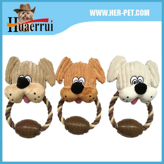 Dog Plush Toy With Rope