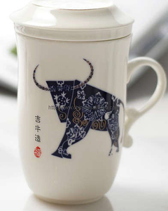 Ceramic cup with Zodiac sign
