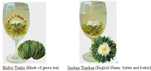 Blooming Tea (Green Tea Material)