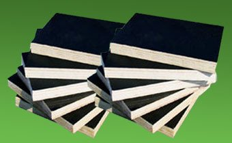 Black Film Faced Plywood-Poplar Core, 21mm Thickness
