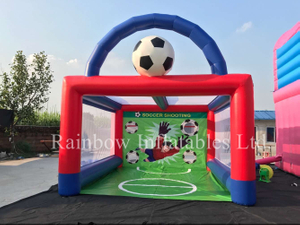 RB9031(5x4.5x4.5m) Inflatable football shooting games/speed soccer shooter/inflatable toss throwing game