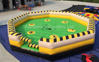 RB9124-1 (7x7m)Inflatable large crazy Mechanical Bull Games for sale
