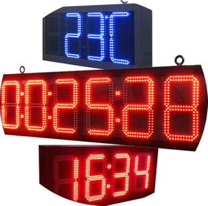 Outdoor LED Time And Temperature Display Sign