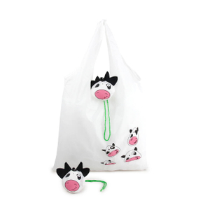 Folding Milk Cow Grocery Bag