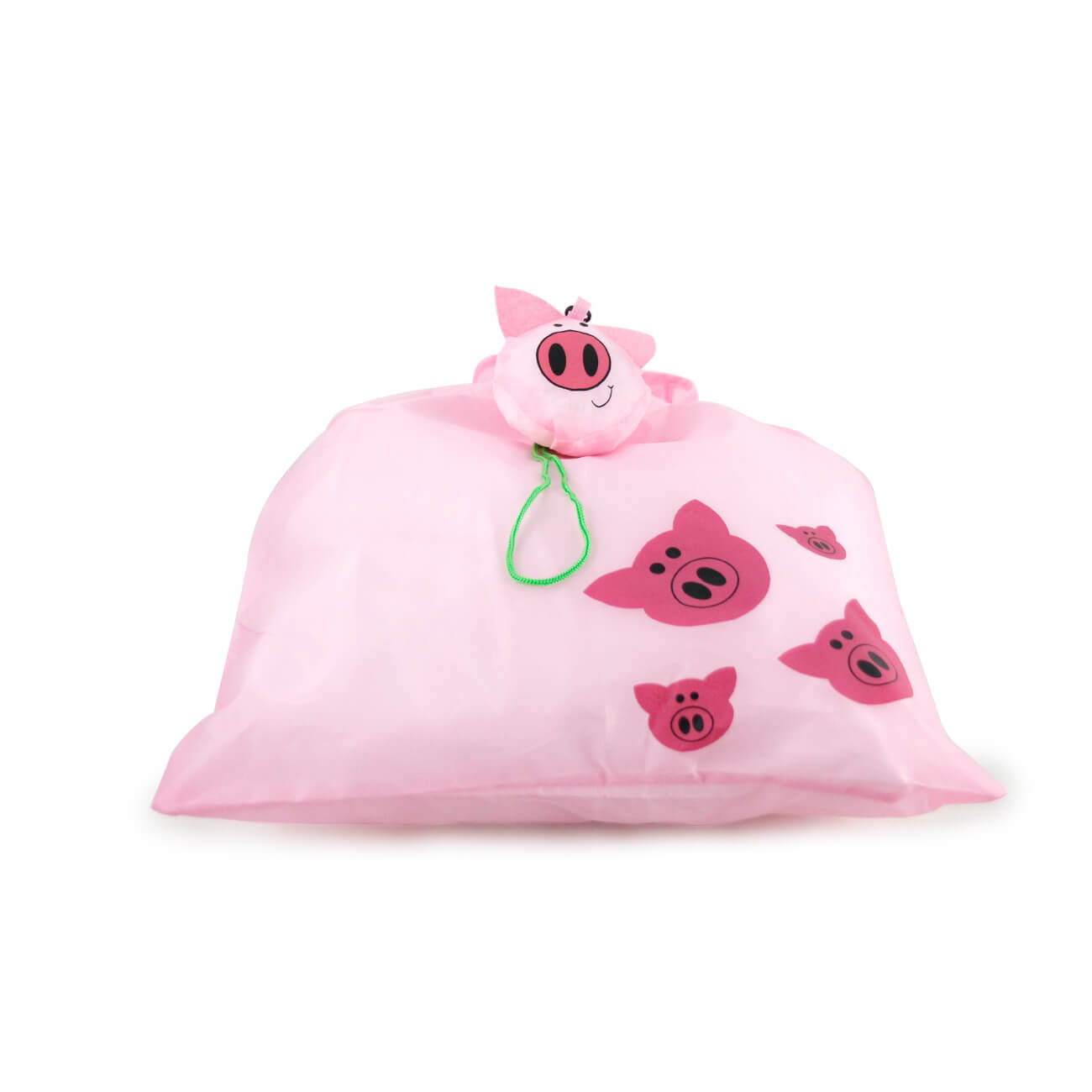 Foldable Pink Pig Carrier Tote Bag