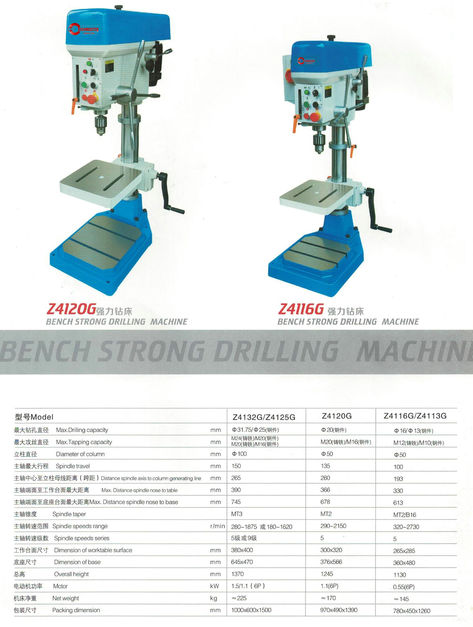 BENCH STRONG DRILLING MACHINE Z4113G