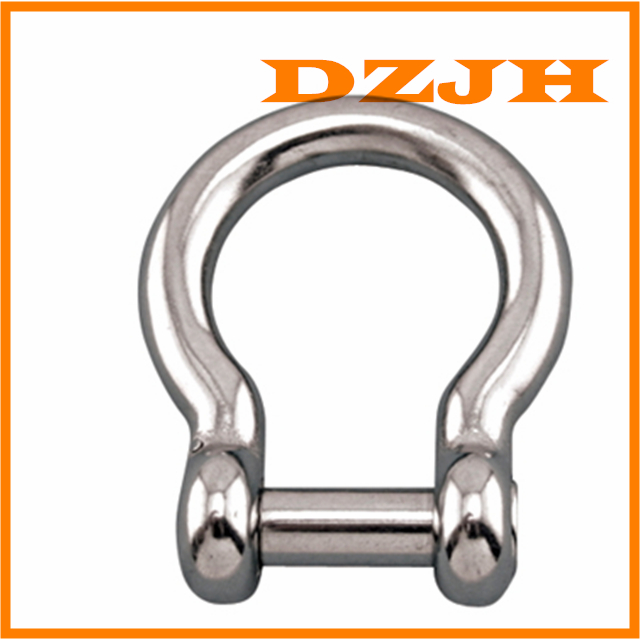 Bow Shackle 316 Stainless with No Snag Pin