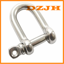 Straight D Shackle 316 stainless with Screw Pin