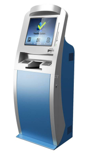 Economic Easy Design Deposit Money Customizable Touch Check Scanner Cash Acceptor ATM Kiosk