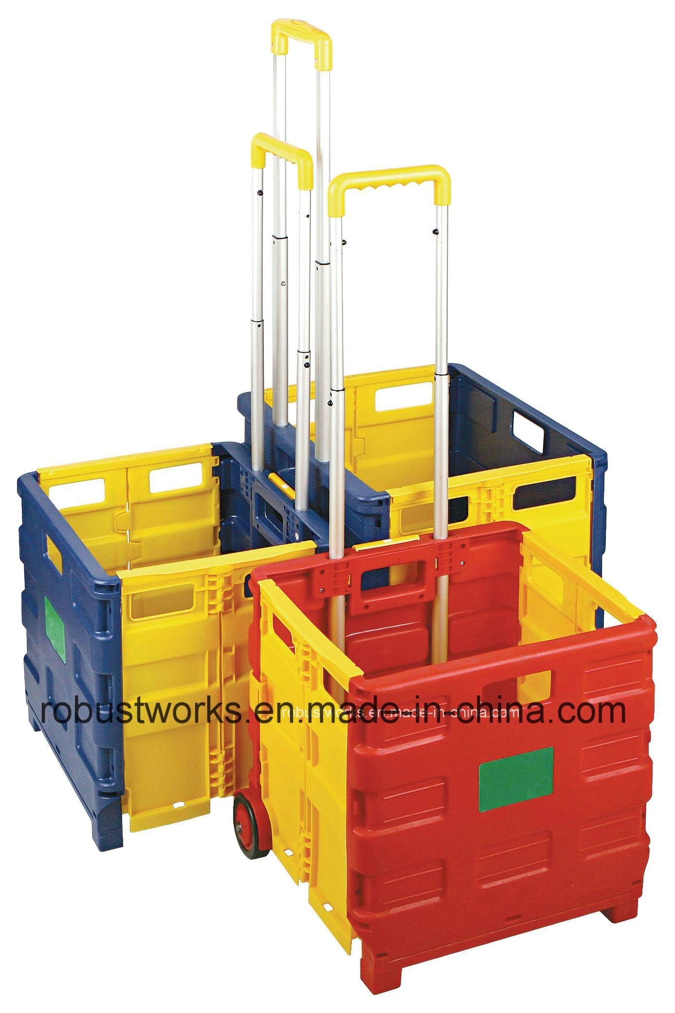 Plastic Folding Shopping Cart (FC403BR-2)