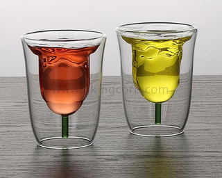 Double wall glass tumblers,glass cup,borosilicate glass,food grade,lead and BPA free