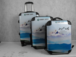 3pcs Advertising PC Backpack Luggage Bag Set