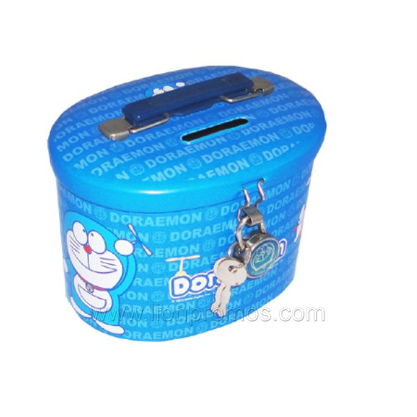 Children Items Promotional Tin Plate Coin Box Bank