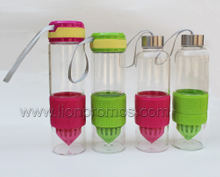 Hot Glass Lemons Fruit Infuser Water Bottle