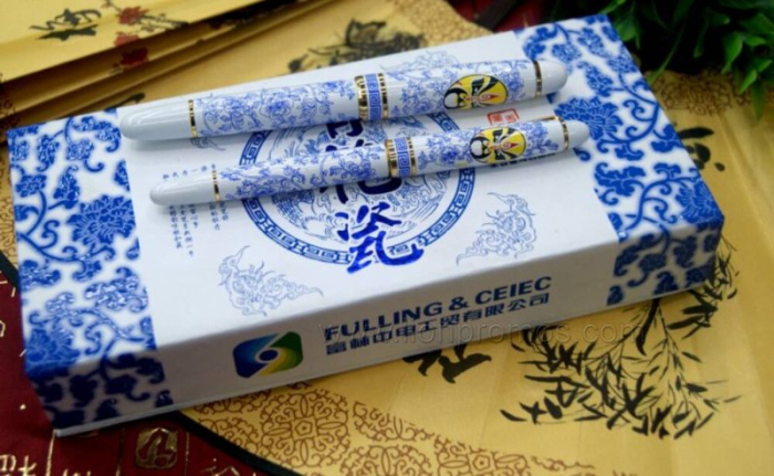 Chinese Traditional Elements Blue&White Ceramic Gifts Pen