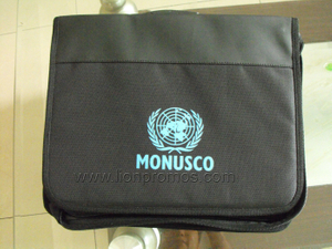 United Nation Logo Imprint Staff Document Holder meeting Bag