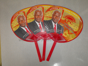 Public Election Vote Campaign Giveaways Plastic Fan
