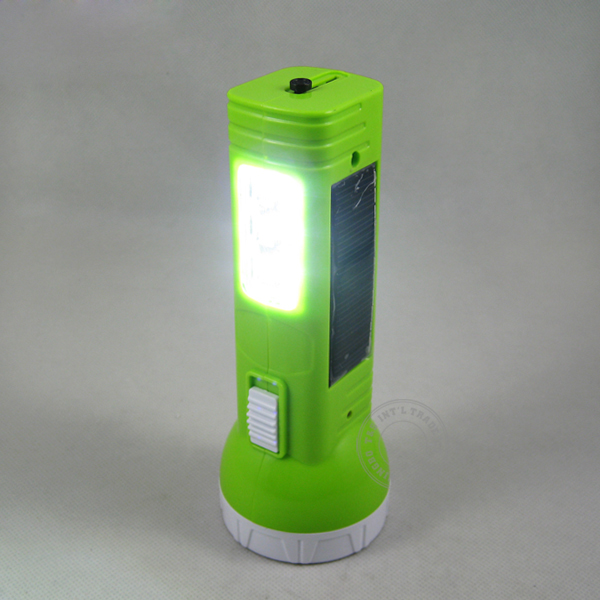 Solar Power Multi Function Rechargeable Flashlight