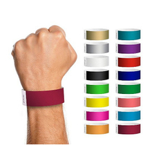 Custom paper wrist band with print logo for identification