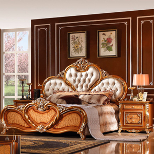W807 Antique Bed for Classic Bedroom Furniture Set