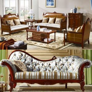 311 Living Room Sofa with Wooden Table for Living Room Furniture