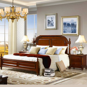 Aemerican Bedroom Furniture with Classical Bed and Antique Dresser