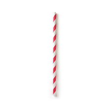 195mm Red Strip Paper Straw