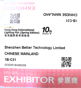 BET will attend 10th Edition Hong Kong international lighting fair