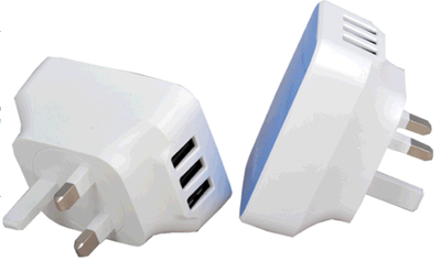 USB Wall Charger with 3 USB Ports Output