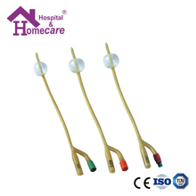 HK05c Latex Foley Catheter Silicone Coated 2-Way Female