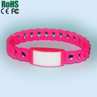 Promotion LED flash silicone bracelets for 2014