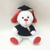 New Design Soft Graduation Dog Animals with Doctor Cap Plush