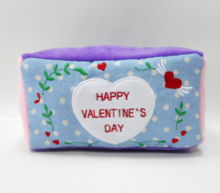 Custom Valentine Plush Tissue Box Cover Gift Plush Tissue Box
