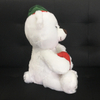 Christmas Plush Stuffed Large White Teddy Bear with Red Gift Bag