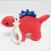Custom Soft Plush Stegosaurus Toy Keychain