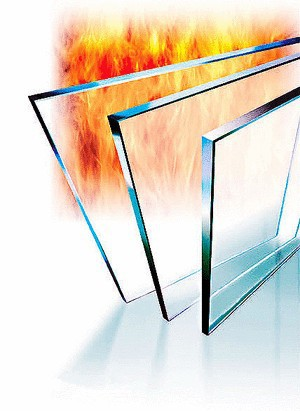 Heat insulated fire resistant glass