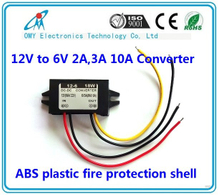12V step down 6V 2A/3A/6A/10A ABS Plastic IP65 waterproof dc dc converter power converter