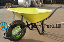Steel Wheelbarrow with 4.00-8 Pneumatic Wheels Wb6400s