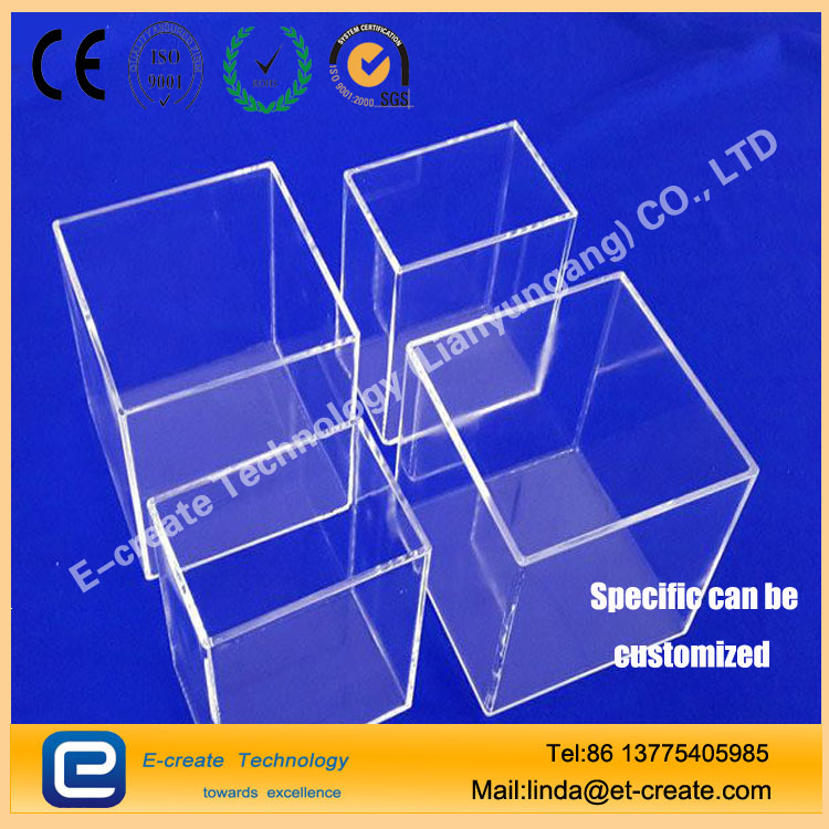 High purity acid-resistant quartz square cylinder for semiconductor cleaning