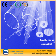 Transparent quartz glass tube (filter UV tube, low-hydroxyl tube, odorless tube, double-hole tube)