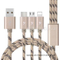 3 in 1 Braided Charging Cable for iPhone/Android/Type-C